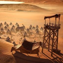🌌 تصویری از کمپ نظامی در بیابان های کوفه #سفیر_عشق 🎮 @Bazieirani
